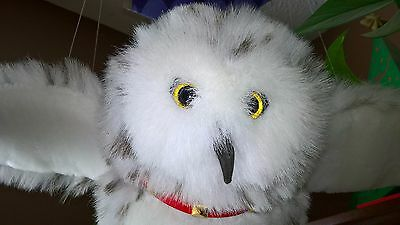 Harry Potter Owl Hedwig Hanging Room Decoration Hallmark Snowy Owl Scroll Plush