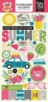 """Echo Park """"summer Fun""""  Chipboard Accents  Vacation  Scrapjack's Place"""