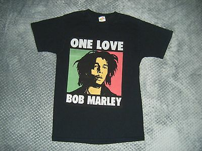 bob marley T shirt size S small black tee - one love
