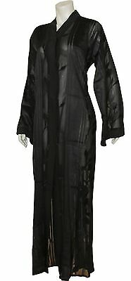 New Black Dubai Open See Through Abaya  Sizes S,m,l Special Eid Free Shipping
