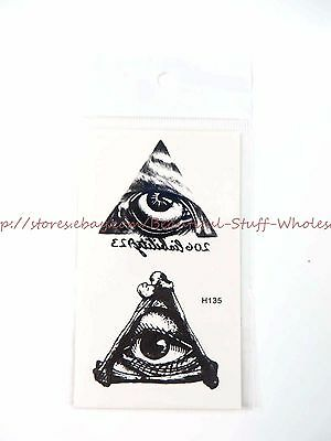 US SELLER- ancient Egyptian eye of Horus temporary tattoo Real Looking Temporary