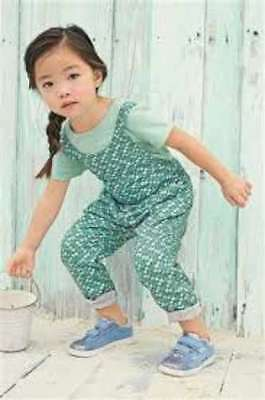 NEXT Girls Teal Floral Patterned Playsuit With T-Shirt Age 3-4 4-5 BNWT