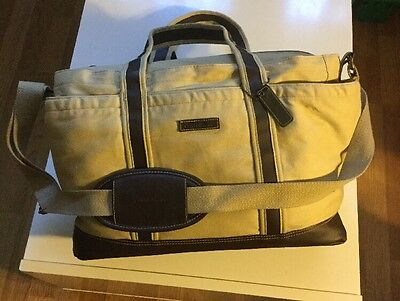 Eddie Bauer Canvas Gender Neutral Baby Diaper Bag Tote NWoT