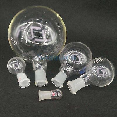 5-5000ml Quickfit Multiple Joint Lab Glass Flask Round Bottom Single Short Neck