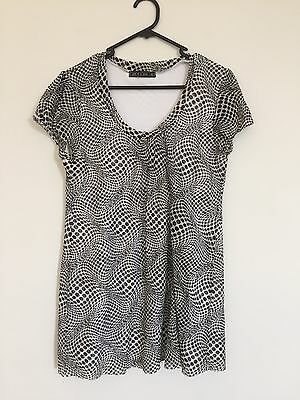 Pea In A Pod Maternity Top Fully Lined Black And White Size 16