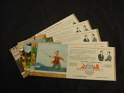 The Kane Service Coasters, Ink Blotters lot of 5 Chicago