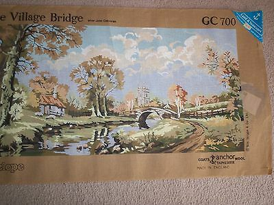 *the Village Bridge* X 1 Only Vintage Penelope Printed Tapestry Canvas