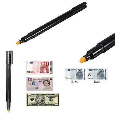 Mini Counterfeit Money Detector Pen Fake Forged Banknote Bills Note Checker Tool