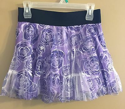Justice Girls Size 16 Purple and White Short
