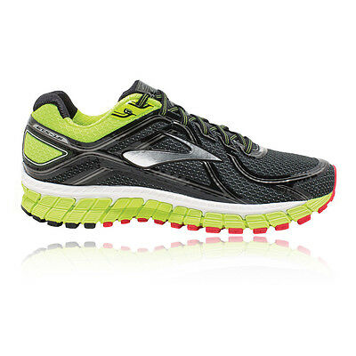 Brooks Adrenaline GTS 16 Mens Green Black Running Sports Shoes Trainers 2E Width