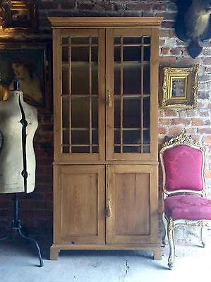 Fabulous Antique Bookcase Dresser Display Cabinet Pine Victorian 19th Century