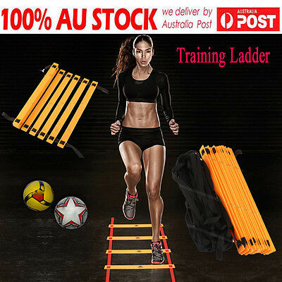 New Agility Speed Sport Training Ladder 8M - Soccer Fitness Boxing 16 Rungs Bag