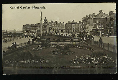 The Central Gardens Morecambe Lancashire Vintage Real Photo Postcard B3