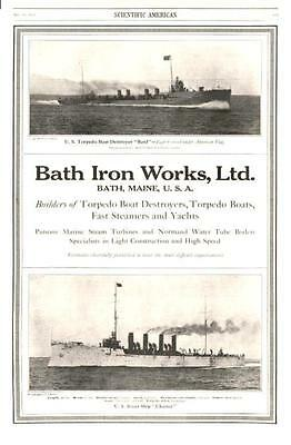 Bath Iron Works, Ltd. - Builders of Destroyers, Steamers and Yachts  -  1912