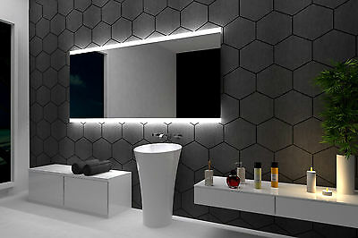 LED illuminated Bathroom Mirror Barcelona 100x70 cm | Modern | Wall mounted