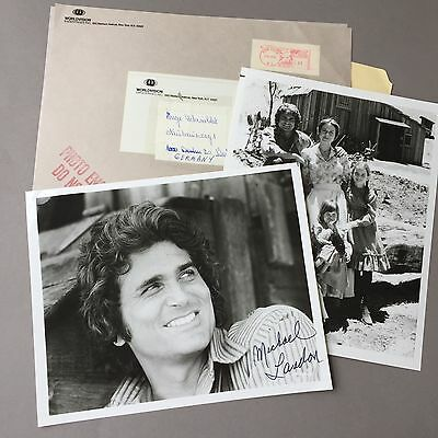 MICHAEL LANDON († 1991) Bonanza  signed Photo 20 x 25 Autogramm RAR