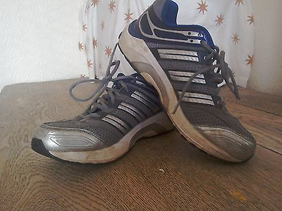Men's blue & white adidas running shoes size 9