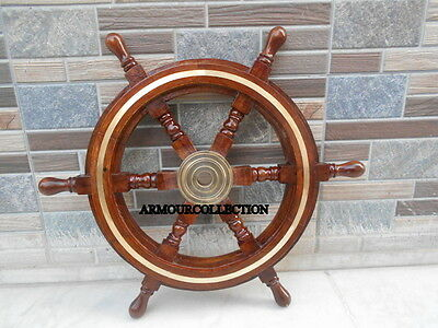 Wooden Steering Ship's Wheel For Collectors Decor Vintage Maritime Giftables