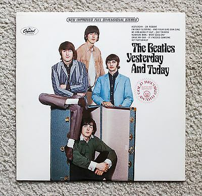 The Beatles Yesterday And Today Vinyl LP Disc Capitol Rainbow Label
