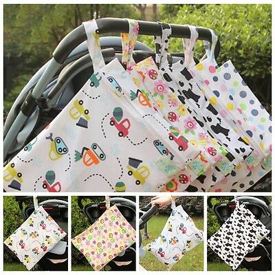 Zip Wet/dry Bag For Baby Soiled Cloth Nappy/diaper Or Wet Swimmer Bag Free Ship