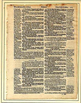 Page from 1588 'Holie Bible' A piece of religious history.