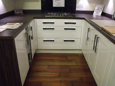 Ex-display symphony salerno gloss white fitted kitchen units
