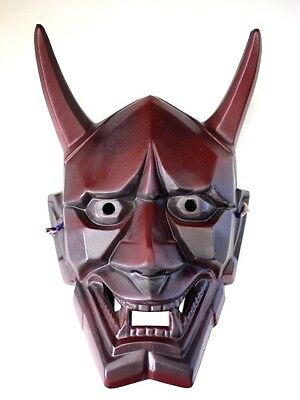 Japanese Antique Demon Devil Lacquer Mask Hannya Noh