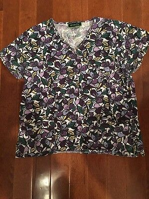 Bonita Scrub Top Women's Size Large Cute