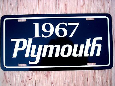 1967 Plymouth license plate tag 67 Barracuda Satellite Sport Fury Belvedere GTX