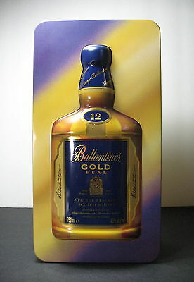Ballantine's Gold Seal Special Reserve Scotch Whisky Empty Metal Gift Tin ~ Box