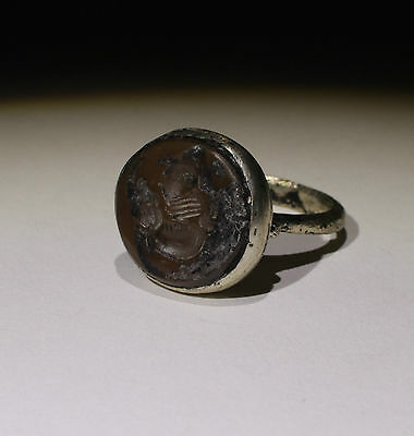 Nice Post Medieval Silver Seal Ring - No Reserve!!