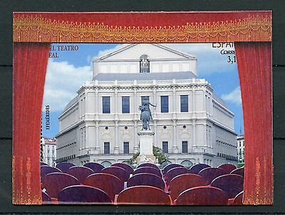 Spain 2017 MNH Teatro Real Re-Opening 1v M/S Theatre Architecture Pop-Out Stamps