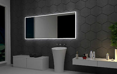 LED illuminated Bathroom Mirror Bristol 120x70 cm | Modern | Wall mounted