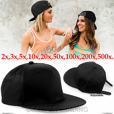 Baseball Hip-Hop Adjustable Plain Cap Mens & Women Snapback Boy Baseball Hat LOT