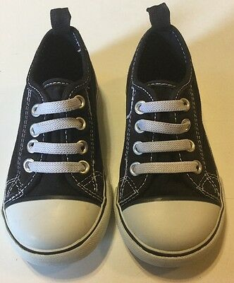Baby Gap Sneakers Shoes Black Size 8 Slip On EUC