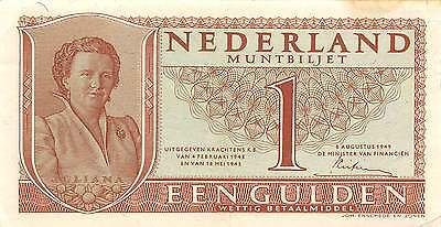 Netherlands 1  Gulden  8.8.1949  Series 6LO Circulated Banknote E422EL