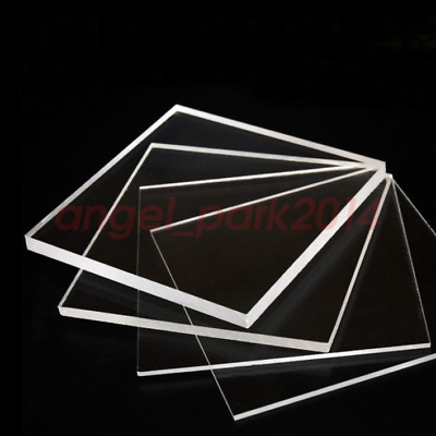 Transparent Acrylic Plexiglass Sheet Replacement Glass 1/4'' x 12'' x 12''