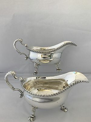 Silver George II Sauce Boats 1757 London John Swift