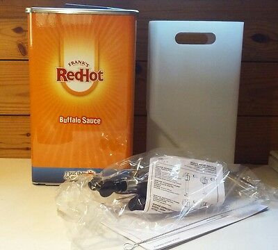 Frank's Red Hot Buffalo Sauce Commercial Dispenser-Canister-Advertising-NIB