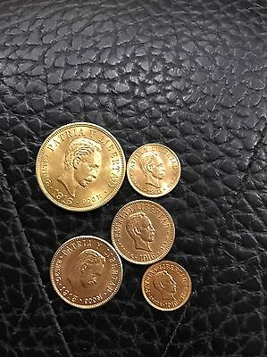 Extremely Rare 1,2,4,5,&10 Pesos GOLD Del Carive Coins 100% Authentic