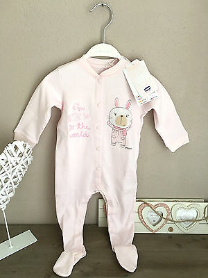 ♥ CHICCO BABY Girl Strampler Jumpsuit Overall rosa 9 Monate 68 cm NP 19,90 ♥