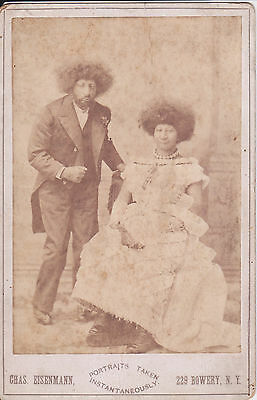 Maximo & Bartola Aztec Children Circus Freaks Rare Eisenmann Cabinet Card Photo