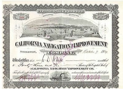 TOP:  California Navigation and Improvement Company  1909