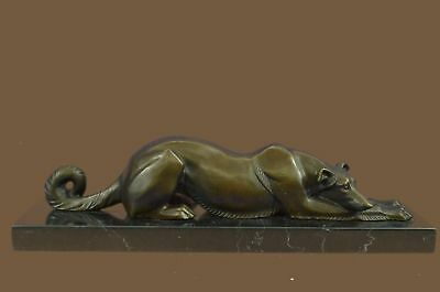 Saluki Greyhound Dog Signed Collectible Bronze Bookend Sculpture Statue Figurine