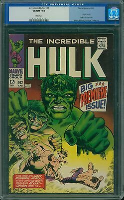 Incredible Hulk 102 CGC 9.0 - White Pages