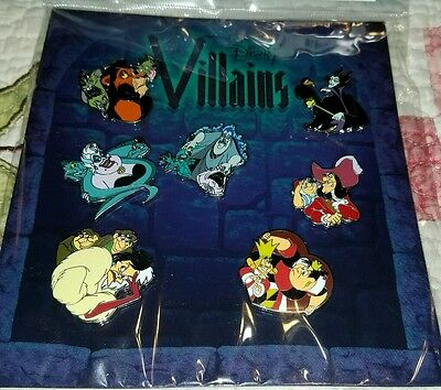 Disney Pins Villains Booster Set  NEW FREE SHIPPING