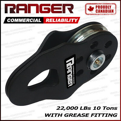Ranger 10 Tons 22,000 LBs Snatch Block with Grease Fitting Pulley by Ultranger