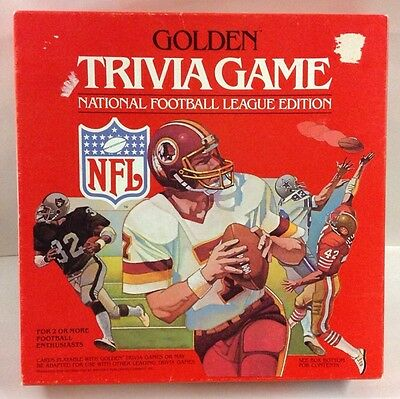 VINTAGE Golden Trivia Game NFL National Football League Edition New In Box