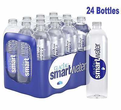 Glaceau Smartwater Natural Mineral Water Bottle Plastic 600ml Pack of 24
