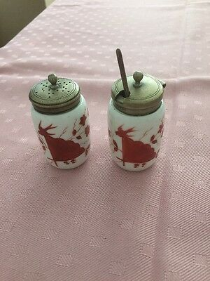 Silver Plated Sugar Sifter & Jam Jar Small Vintage Made In Sheffield